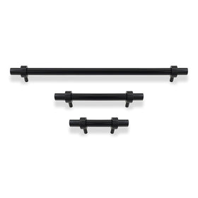black Caliber pull cabinet hardware Dutton Brown