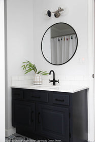 navy nickel cap double globe vanity sconce lighting by dutton brown. space by coastal dream design brooke roelofs. _hover