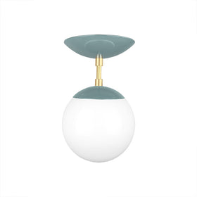 brass lagoon cap globe flush mount 6 inch dutton brown lighting