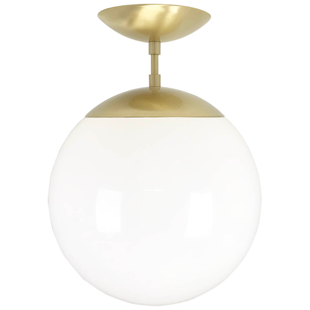 flush mount ceiling light fixtures cap flush mount white globe brass 12 inch mid century modern custom lighting