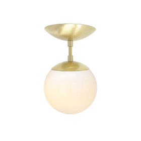 flush mount ceiling light fixtures cap flush mount white globe brass 6 inch mid century modern custom lighting