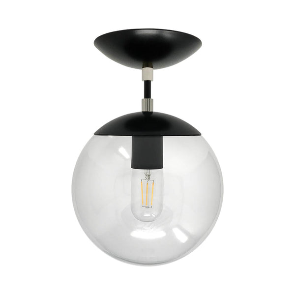 flush mount ceiling light fixtures cap flush mount clear globe black nickel 8 inch mid century modern custom lighting