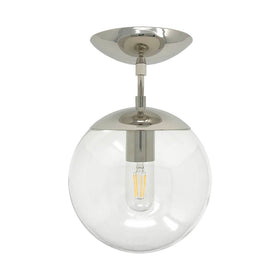 flush mount ceiling light fixtures cap flush mount clear globe nickel 8 inch mid century modern custom lighting _hover
