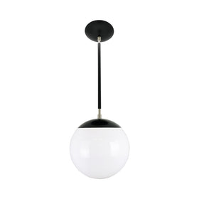 hanging lights cap globe pendant 10 inch black nickel kitchen island lighting mid century modern ceiling lighting _hover