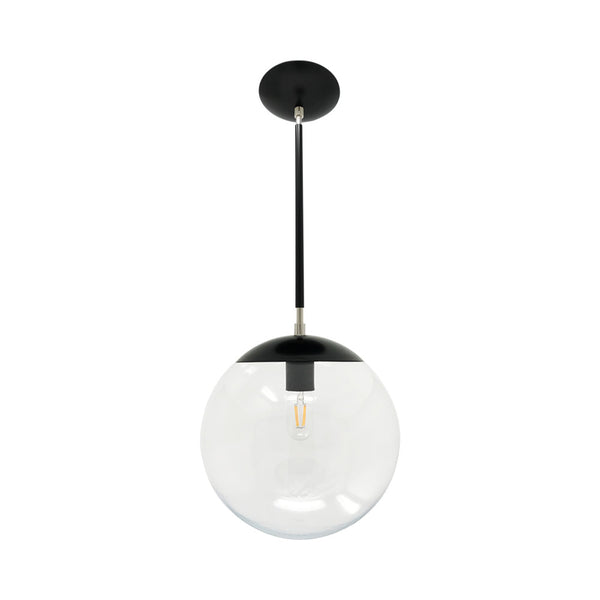 hanging lights cap globe pendant 12 inch black nickel kitchen island lighting mid century modern ceiling lighting