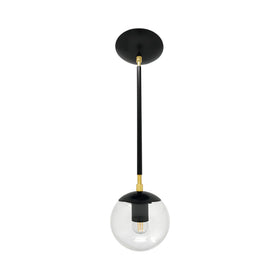 hanging lights cap globe pendant 6 inch black brass kitchen island lighting mid century modern ceiling lighting