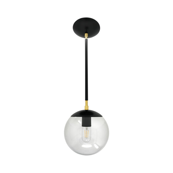 hanging lights cap globe pendant 8 inch black brass kitchen island lighting mid century modern ceiling lighting