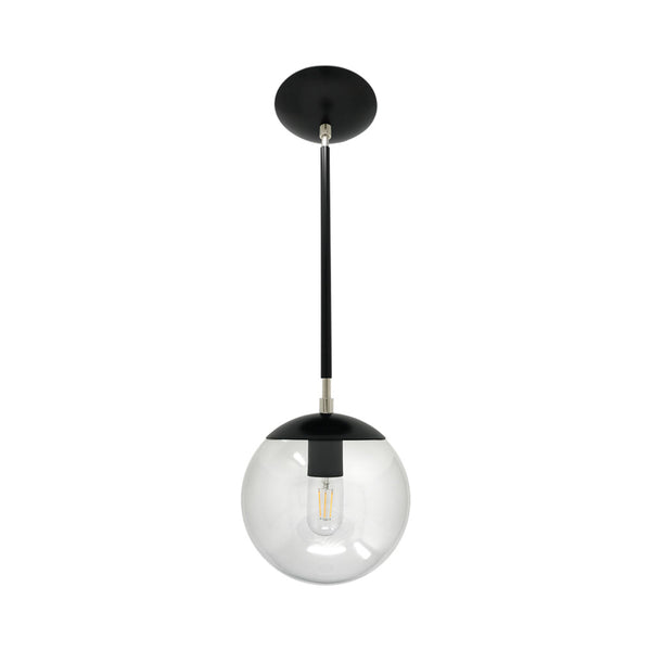 hanging lights cap globe pendant 8 inch black nickel kitchen island lighting mid century modern ceiling lighting