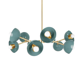 lagoon brass crown cup chandelier lighting by dutton brown