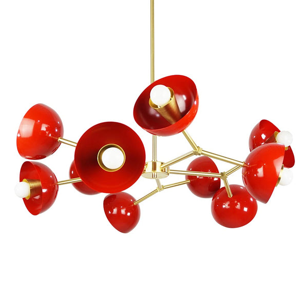 brass red crown cup chandelier dutton brown design mid century modern lighting