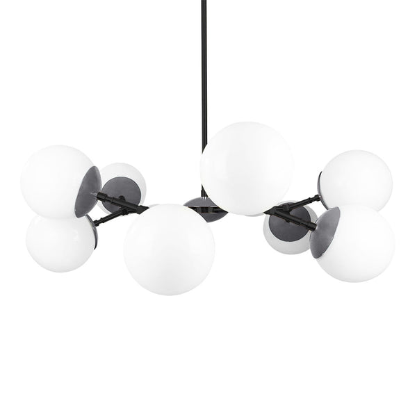 black charcoal color crown globe chandelier 32'' contemporary lighting