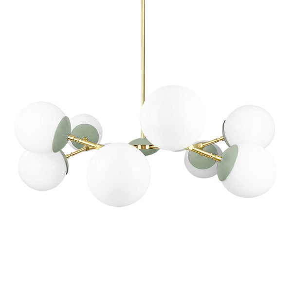 brass spa crown globe chandelier 32 dutton brown lighting midcentury modern ceiling light