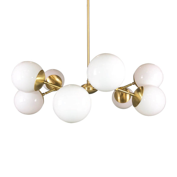 brass crown globe chandelier lighting white globes
