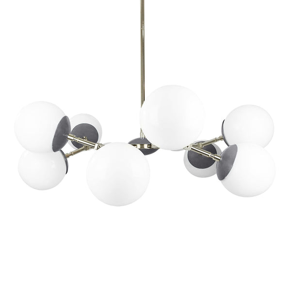 nickel charcoal crown globe chandelier 32'' dutton brown lighting midcentury modern ceiling light
