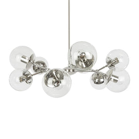 nickel crown globe chandelier lighting clear globes dutton brown design