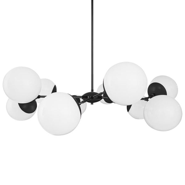 black black  crown globe chandelier 46 inch dutton brown lighting