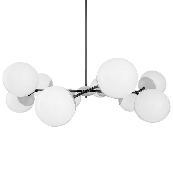 black chalk crown globe chandelier 46 inch dutton brown lighting
