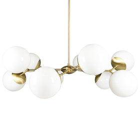 chandelier ceiling light crown chandelier brass white globe 46 inch mid century modern lighting