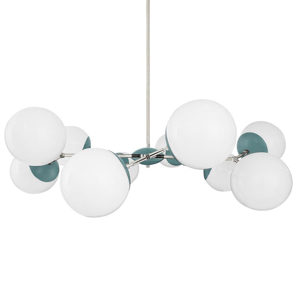 nickel lagoon crown globe chandelier 46 inch dutton brown lighting