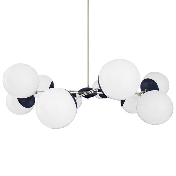 nickel navy crown globe chandelier 46 inch dutton brown lighting