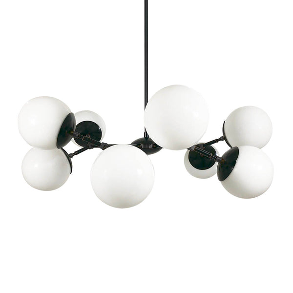 black crown globe chandelier lighting white globes dutton brown design