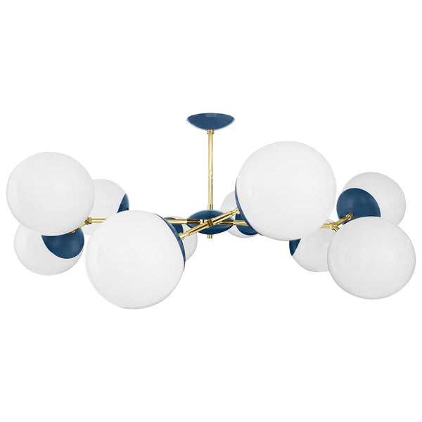 brass slate blue crown globe flush mount 46 inch dutton brown lighting