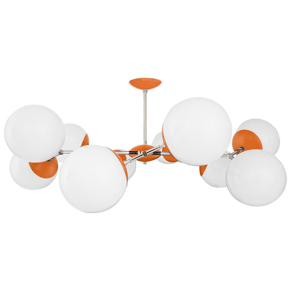 nickel orange crown globe flush mount 46 inch dutton brown lighting
