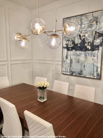 brass cumula chandelier lighting by dutton brown. space by adam kayce. _hover
