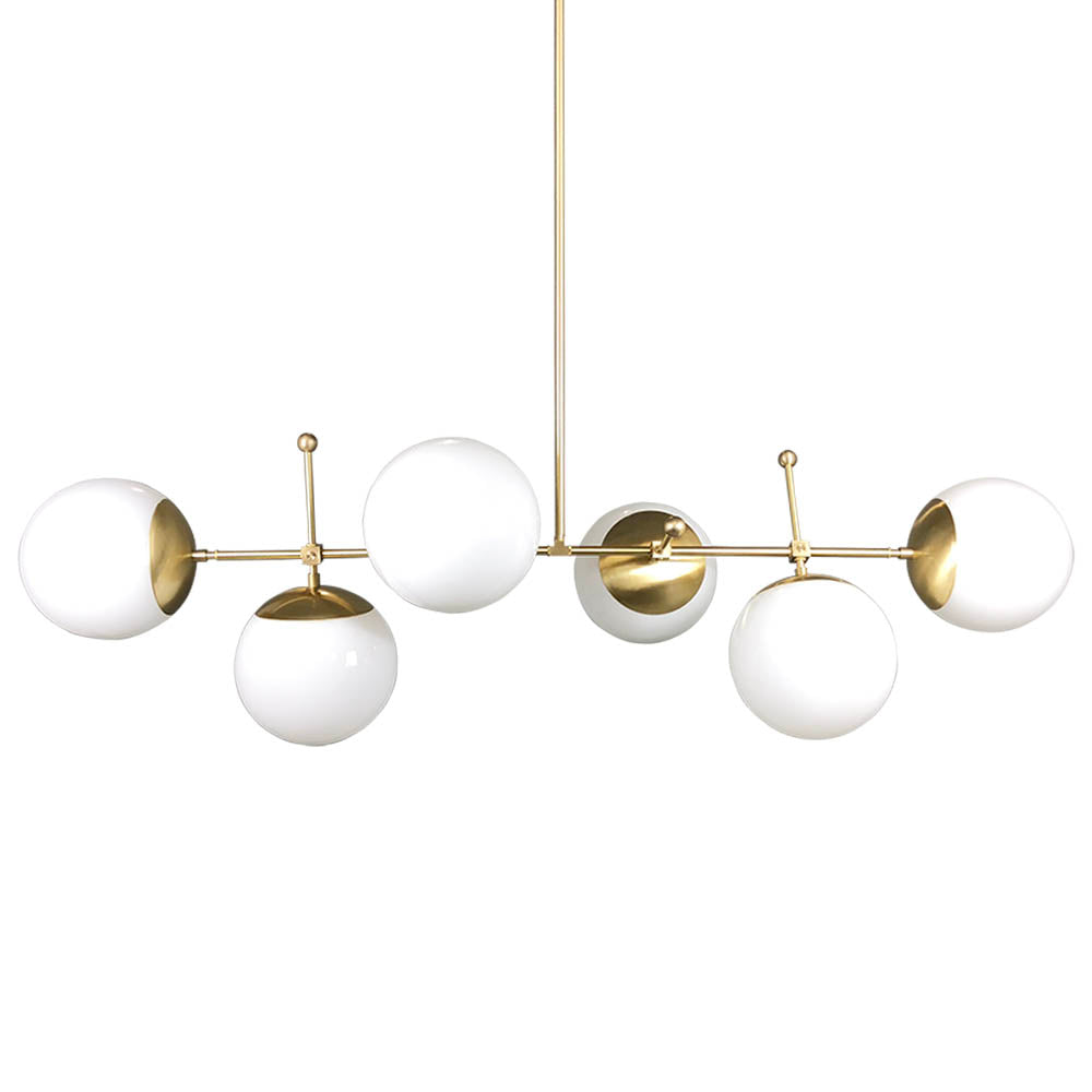 chandelier globe brass addison products lighting clear