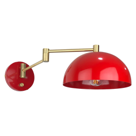 brass red director swivel wall sconce dutton brown lighting