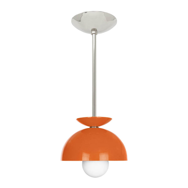 nickel orange 8 inch color echo dome pendant dutton brown lighting mid century modern
