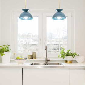 Echo pendant brass lagoon kitchen lighting by Dutton Brown. _hover