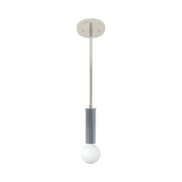 nickel dove gray eureka pendant dutton brown design lighting