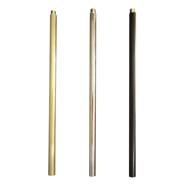 extension rods brass nickel black dutton brown lighting