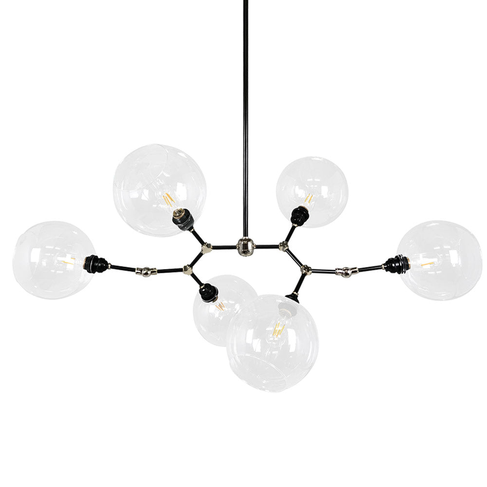 High addison globe chandelier 44 black nickel halee globe chandelier lighting arubaitofo Choice Image