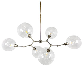 nickel Halee globe chandelier lighting