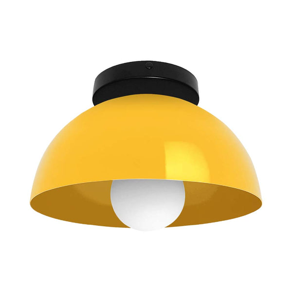black and ochre hemi dome flush mount 10 inch dutton brown lighting