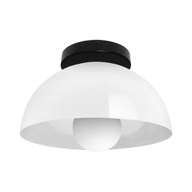 black white hemi dome flush mount 10 inch dutton brown lighting _hover