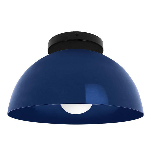 black and cobalt hemi dome flush mount 12 inch dutton brown lighting