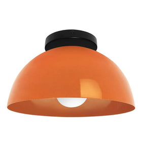 black orange hemi dome flush mount 12 inch dutton brown lighting _hover