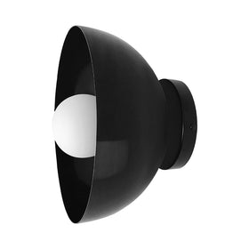 black hemi dome wall sconce 10'' dutton brown lighting midcentury modern _hover