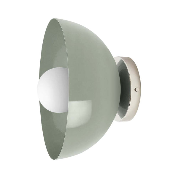 spa nickel hemi dome wall sconce 10 inch dutton brown lighting