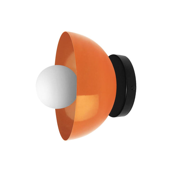 orange black color hemi wall sconce 8 inch dutton brown lighting mid century modern