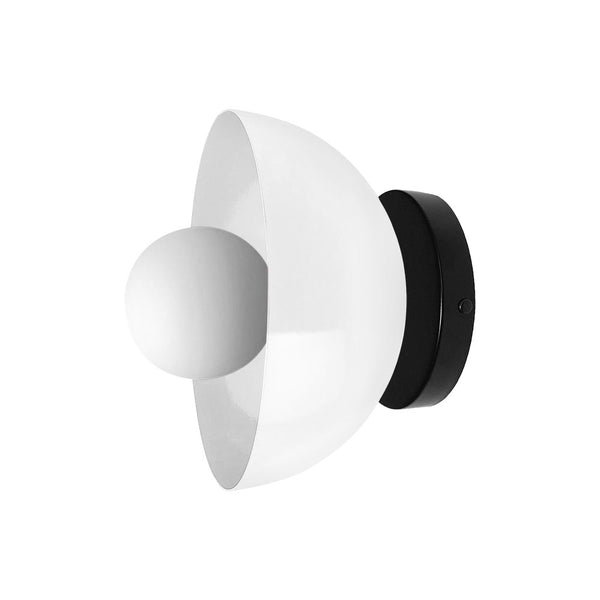 black white color hemi wall sconce 8 inch dutton brown lighting mid century modern
