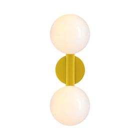 ochre icon 2 vanity globe wall sconce dutton brown lighting
