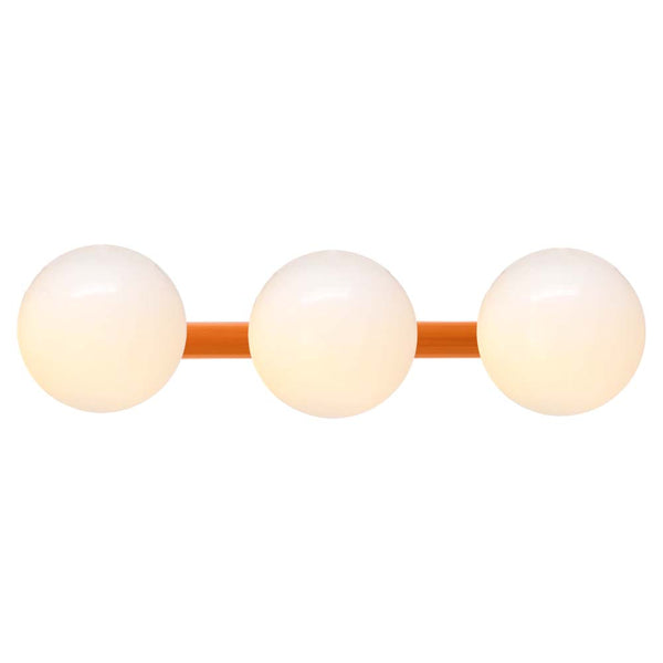 orange icon 3 vanity globe wall sconce dutton brown lighting