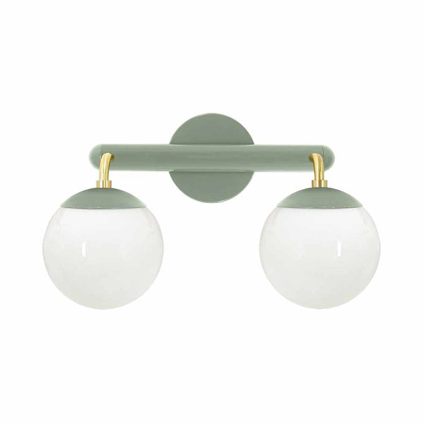 brass and spa legend 2 globe wall sconce vanity lighting dutton brown design