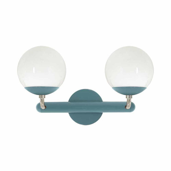 nickel and lagoon legend 2 globe wall sconce vanity lighting dutton brown design