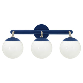 nickel and cobalt legend 3 globe vanity wall sconce dutton brown lighting _hover