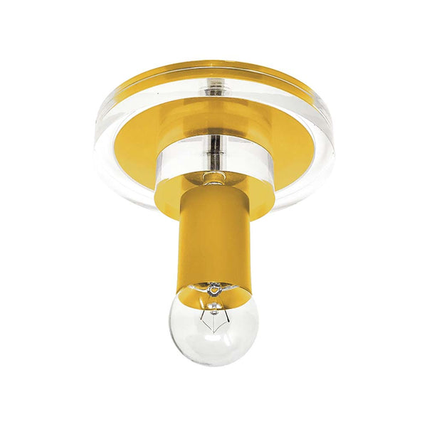ochre lepore acrylic flush mount dutton brown lighting